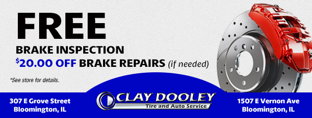 Free Brake Inspection -$20.00 Off Needed Brake Repairs