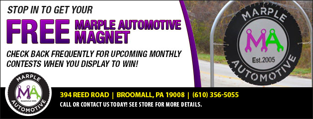 Free Marple Automotive Magnet