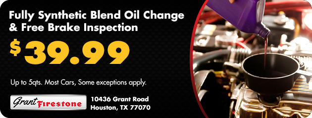 Synthetic Oil Change and Free Brake Inspection