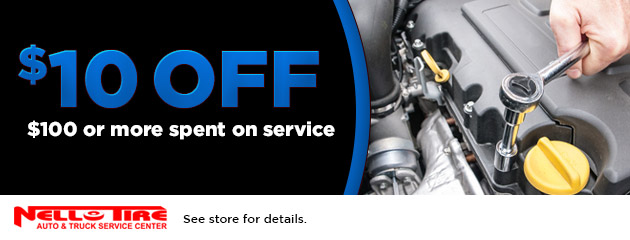 $10 off $100 or more spent on service