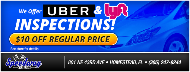 We Offer Uber and Lyft Inspections!