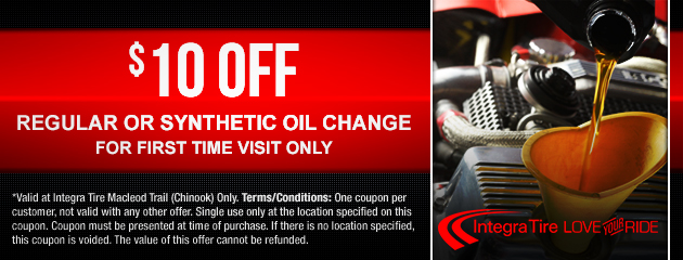 $10 off Regular or Synthetic Oil Change - for first time visit only