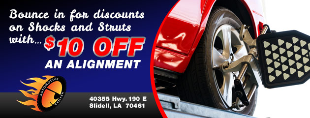 $10.00 Off An Alignment Special