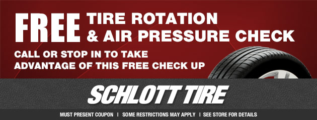 Free Tire Rotation and Air Pressure Check Special