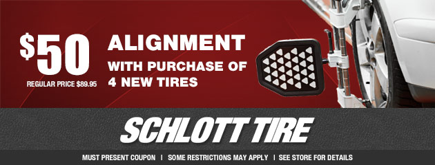 $50 Alignment with Purchase of 4 New Tires