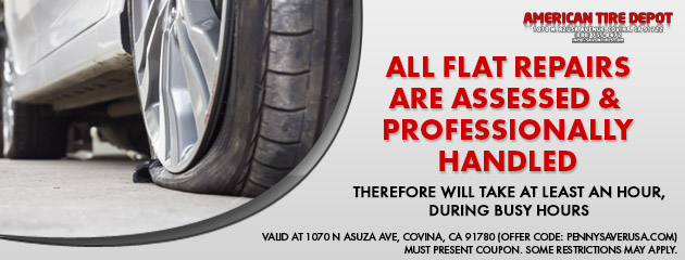 All Flat Repairs are Assessed & Professionally Handled
