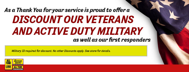 Veterans & Active Duty Military Discount
