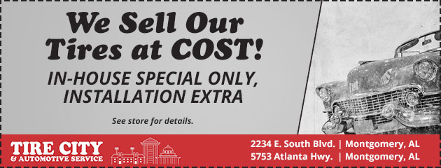 We Sell Our Tires at COST!