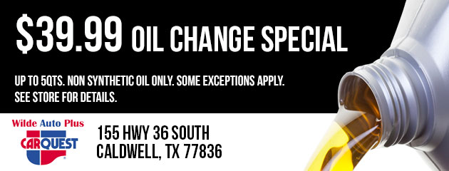 $39.99 Oil Change Special