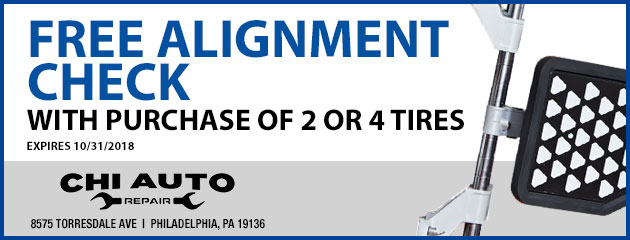 Free Alignment Check with Tire Purhcase