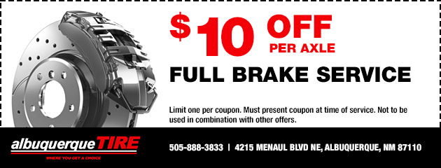 Albuquerque Tire Inc.  - Full Brake Service Special
