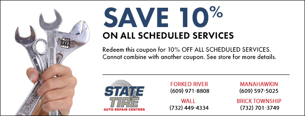 10% OFF All Scheduled Services