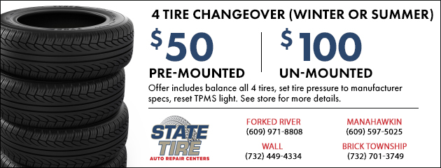 4 Tire Changeover (Winter or Summer)