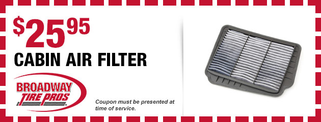 Cabin Air Filter $25.95