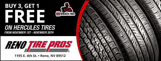 Buy 3 Get 1 Free on Hercules Tires