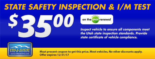 $35 State Safety Inspection & I/M Test