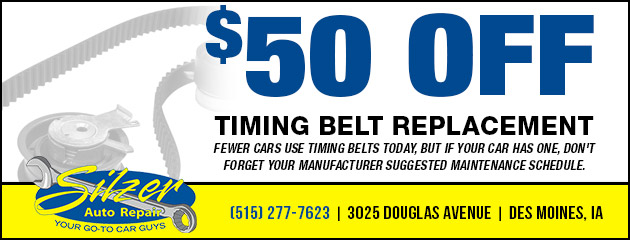$50 Off Timing Belt Replacement Special