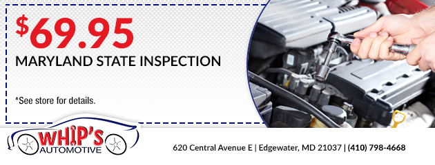 Maryland State Inspection - $69.95