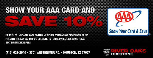 Show your AAA Card and save 10% on parts and labor