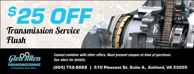 $25 Off Transmission Service/Flush