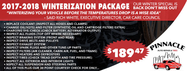 2017-2018 Winterization Package