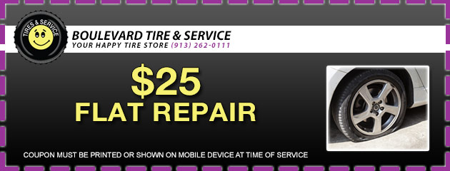 Flat Tire Repair - Only $25