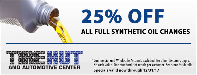 25% Off All Full Synthetic Oil Changes