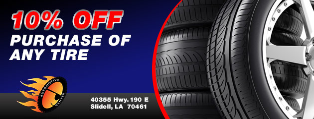 10% Off Purchase Of Any Tire Special