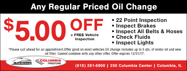 $5 Off Any Regualr Priced Oil changeBlend Oil Change