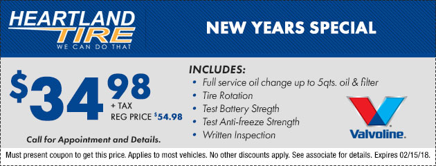 New Years Oil Change Special