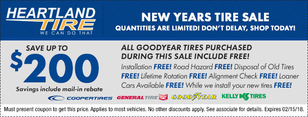 New Years Tire Sale