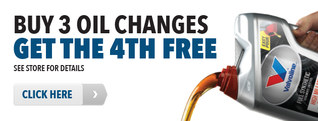 Buy 3 Oil Changes, Get the 4th FREE