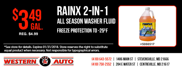 RainX 2-in-1 All Season Washer Fluid Special