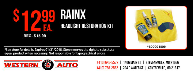 RainX Headlight Restoration Kit Special
