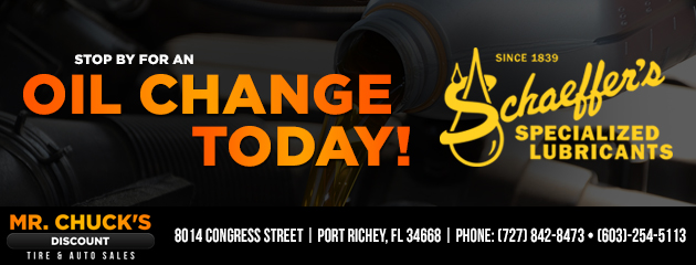 Stop in for an Oil Change!