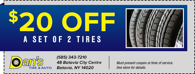 $20 Off a Set of 2 Tires
