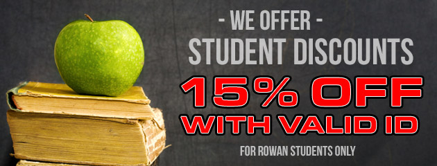 15% Student Discount With Valid ID