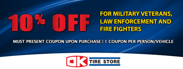 10% OFF for Military Veterans, Law Enforcement and Fire Fighters