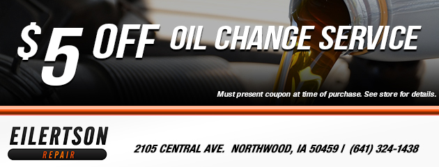 $5 Off Oil Change Special
