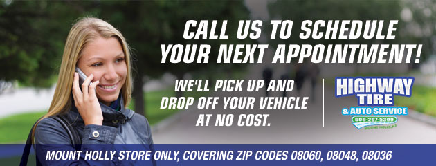CALL US TO SCHEDULE YOUR NEXT APPOINTMENT: We'll pick up AND drop off your vehicle at NO COST