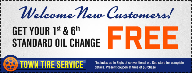 New Customers - Get your 1st and 6th Oil Change FREE!