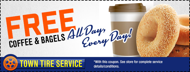 Free Coffee and Bagels - All Day, Everyday!
