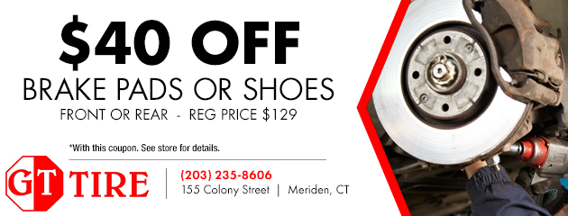 $40 Off Brake Pads or Shoes