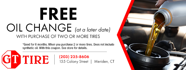 Free Oil Change with Purchase of 2 or more Tires