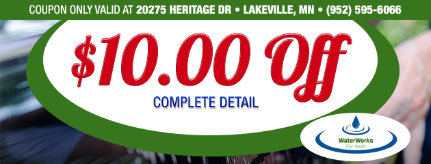 $10.00 Off A Complete Detail - Lakeville