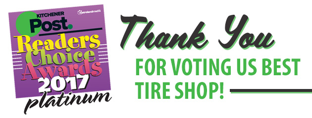Thank You for Voting Us Best Tire Shop