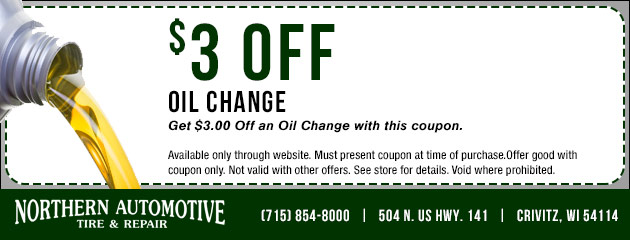 $3 Off Oil Changes Coupon