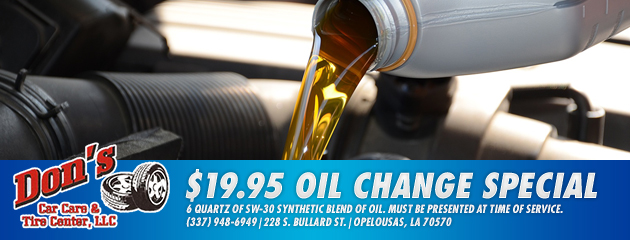 $19.95 Oil Change Special