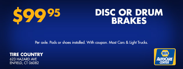 Disc or Drum Brakes - $99.95