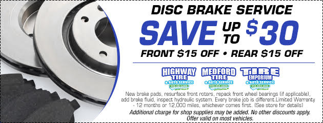Disc Brake Service - Save Up To $30